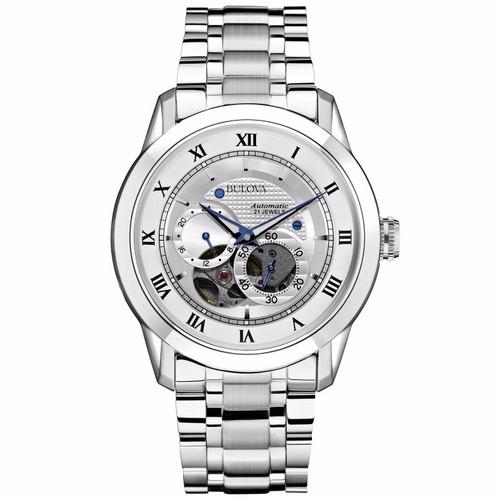 reloj bulova skeleton automatic 96a118 tienda oficial bulova