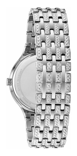 reloj bulova swarovski 96a227 40mm hombre acero nuevo