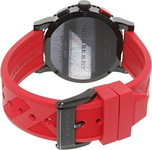 7dcfb3d9dd19 Reloj Burberry Black Dial Ss Rojo Cronógrafo Cuarzo Goma -   1.782 ...