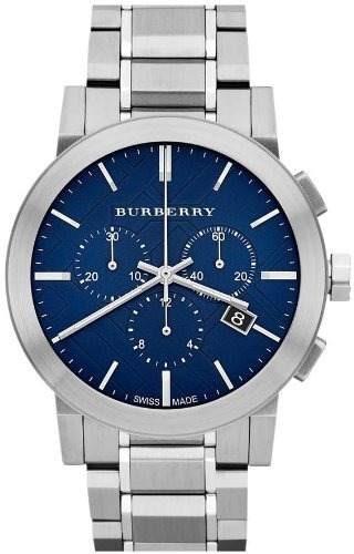 reloj burberry city plateado