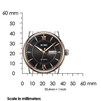 reloj burei los hombres del día luminoso y fecha automátic