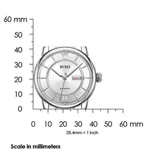 reloj burei® los hombres del día luminoso y fecha automátic
