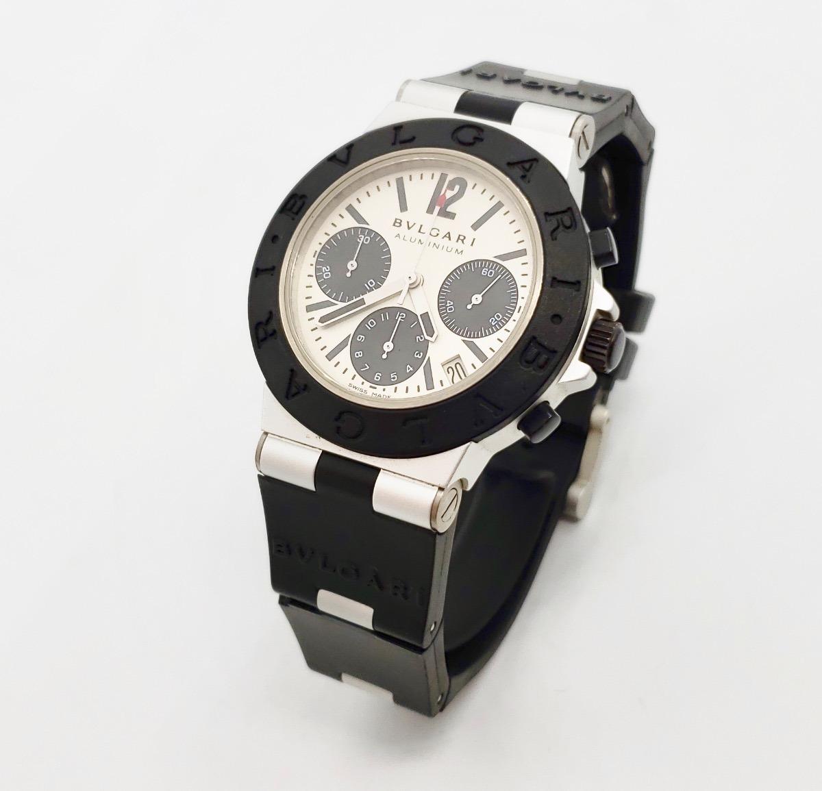 b375e2e4bf75b reloj bvlgari aluminio chronografo automatico cono nuevo. Cargando zoom.
