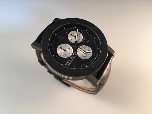 reloj bvlgari carbongold chronograph edicion roma.