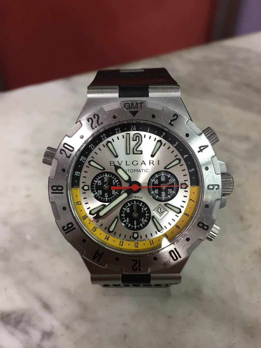 cfc30989a1a Reloj Bvlgari Diagono Professional Gmt -   6.500.000 en Mercado Libre