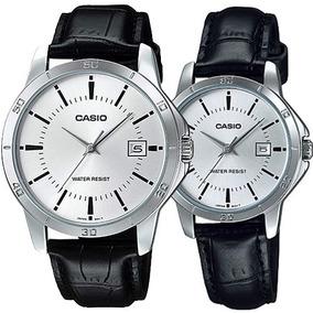 fd3740cdc6ce Reloj Caballero Casio Mtpv004 + Ltp V004 Piel Pareja Cristal