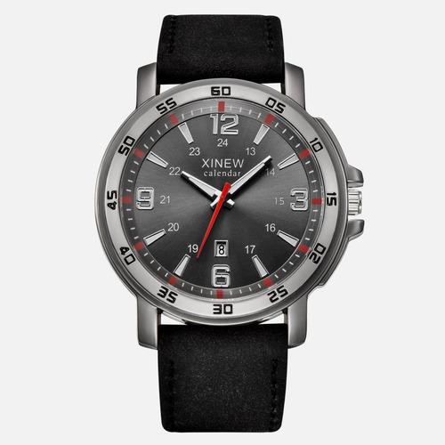 reloj calendar original de piel con fechador para hombre