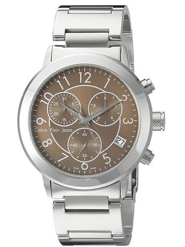 reloj calvin klein continual acero hombre k8727176