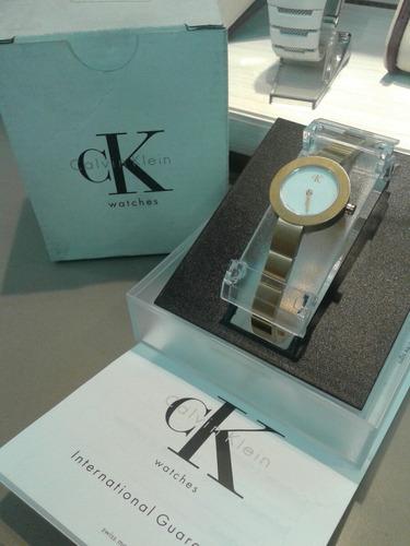 reloj calvin klein dama dorado