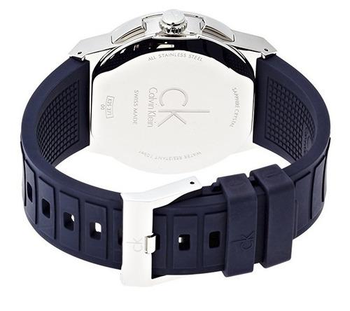 reloj calvin klein dart acero caucho azul hombre k2s371vn