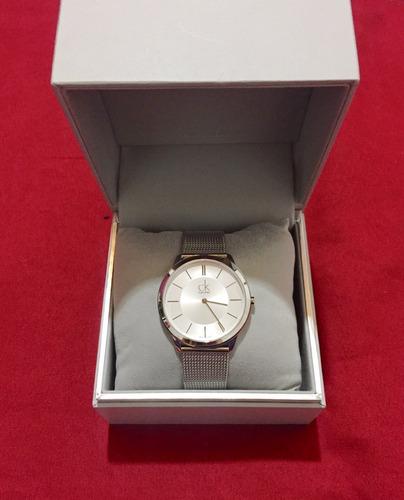 reloj calvin klein gris, hombre, nuevo y original