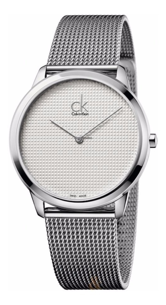 Para Reloj Klein Minimal K3m2112y Caballero Calvin Plateado dtBCshQrx