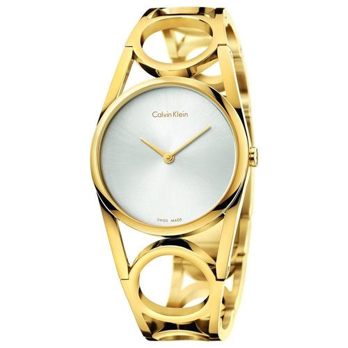 reloj calvin klein round original para dama k5u2m546