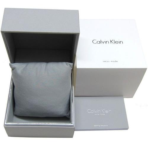 reloj calvin klein suizo importado acero inoxidable pulido