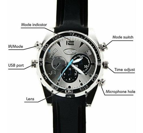 reloj camara espía oculta 1080p / visión nocturna / microfon