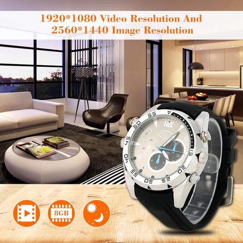 reloj cámara espia video full hd 1080p vision nocturna sport