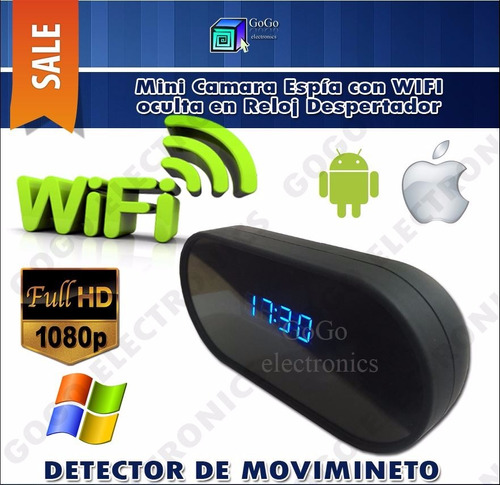 reloj camara espia wifi bateria 24 horas p2p hdfull 1080p