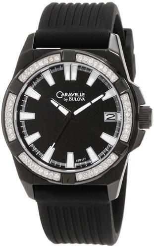 reloj caravelle negro