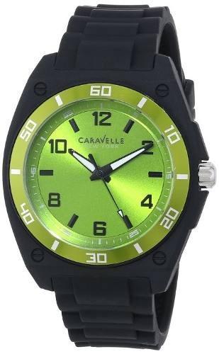 reloj caravelle new york negro - verde