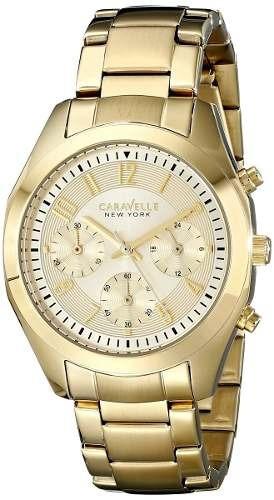 reloj caravelle wcv475 dorado