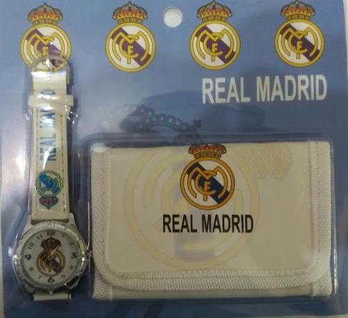 reloj + cartera de niños barcelona madrid peppa lanzatasos