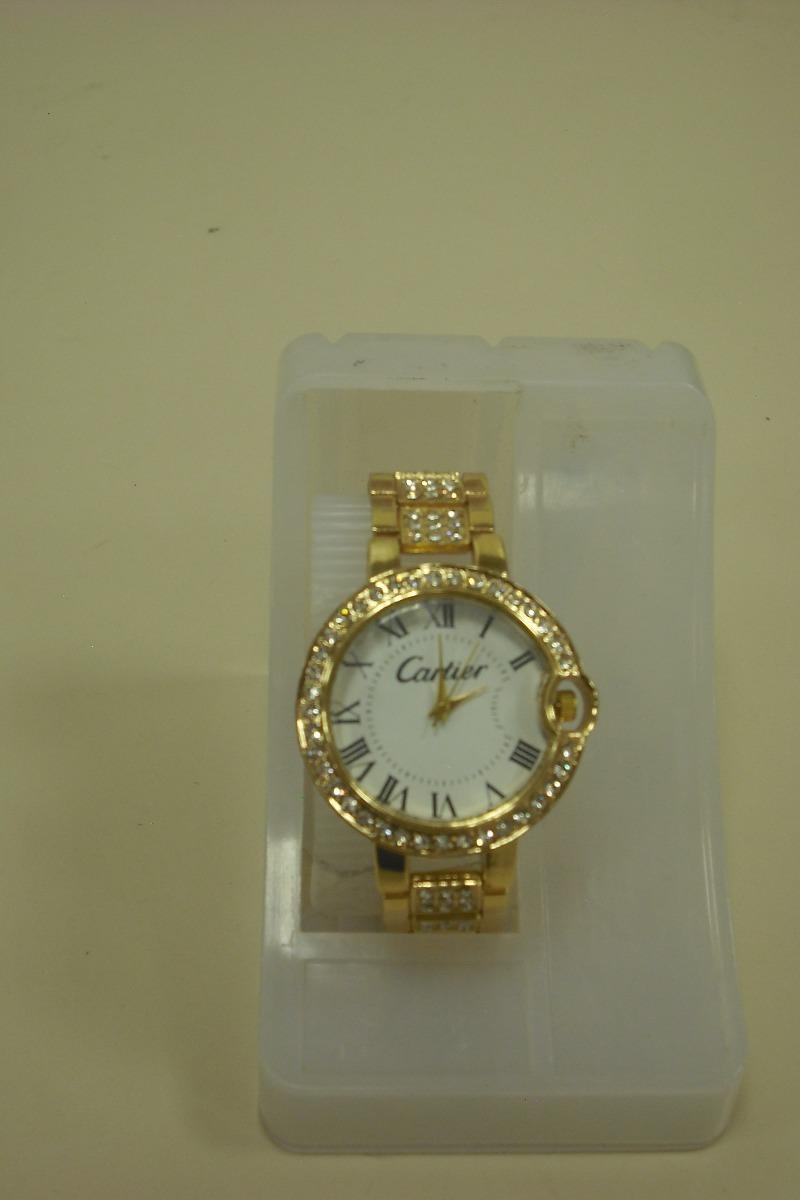 Reloj cartier de mujer dorado