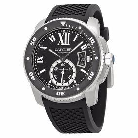 f502a7cb6219 Reloj Cartier Calibre Automático Negro Caucho Negro W7100056