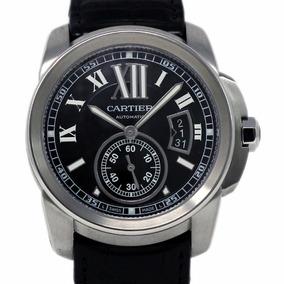 4de80140c21d Reloj Cartier Calibre Automático Negro Piel Negra W7100041
