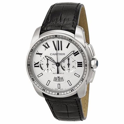 reloj cartier calibre automático piel negra w7100046