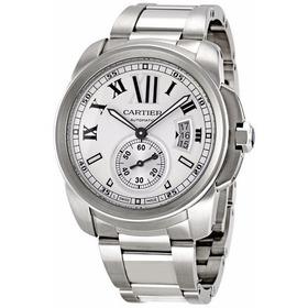 Reloj Cartier Calibre Automático Plateado W7100015