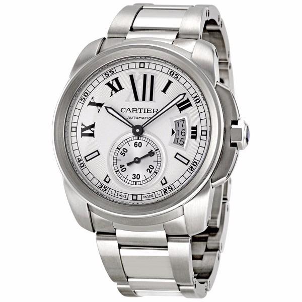 51121247cb5c Reloj Cartier Calibre Automático Plateado W7100015