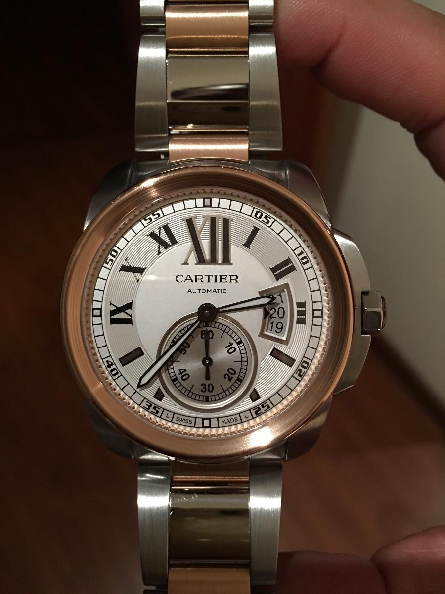 44ff361800dd !!!reloj Cartier Calibre En Oro Rosa Y Acero Nuevo Regalado