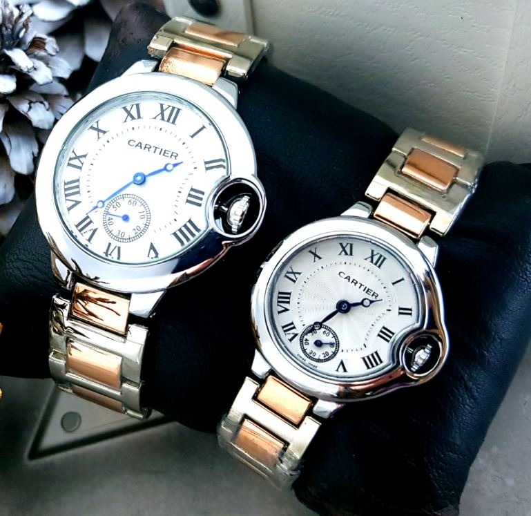 e29bfdb5fe08 reloj cartier mujer hombre pareja duo oro plateado precio. Cargando zoom... reloj  cartier hombre