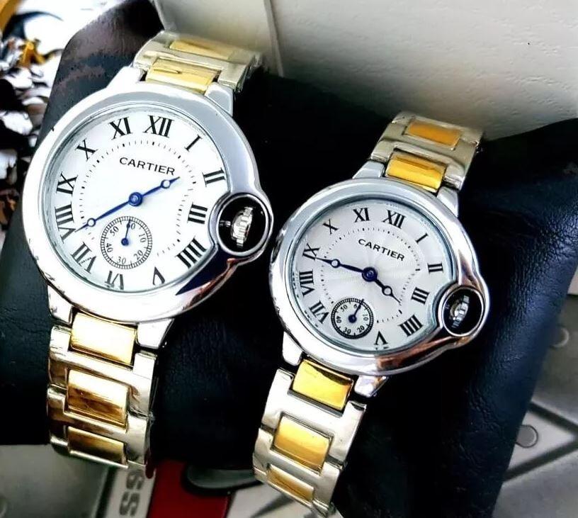 ff895c0ca309 reloj cartier mujer hombre pareja duo oro plateado precio. Cargando zoom.