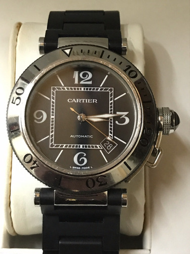 reloj cartier pasha seatimer 40 mm automatico 100% original