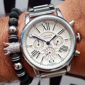 9e089a7750e8 Reloj Cartier W Z4 Plateado Masculino - Relojes en Mercado Libre Colombia