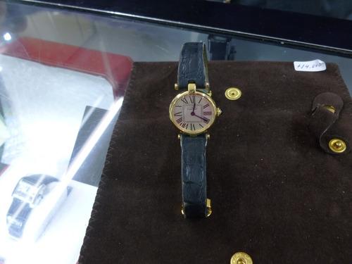 reloj cartier rondé  vermeil