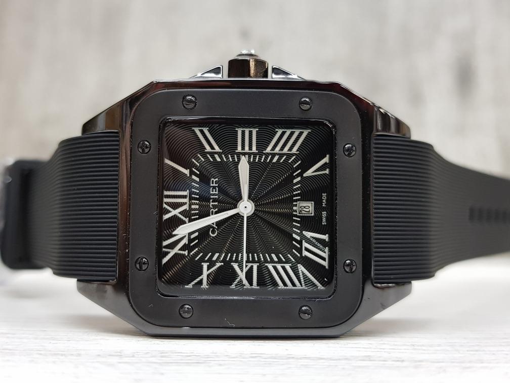 957a3257a4b1 Reloj Cartier Santos Cerámica 34mm Negro (fotos Reales)