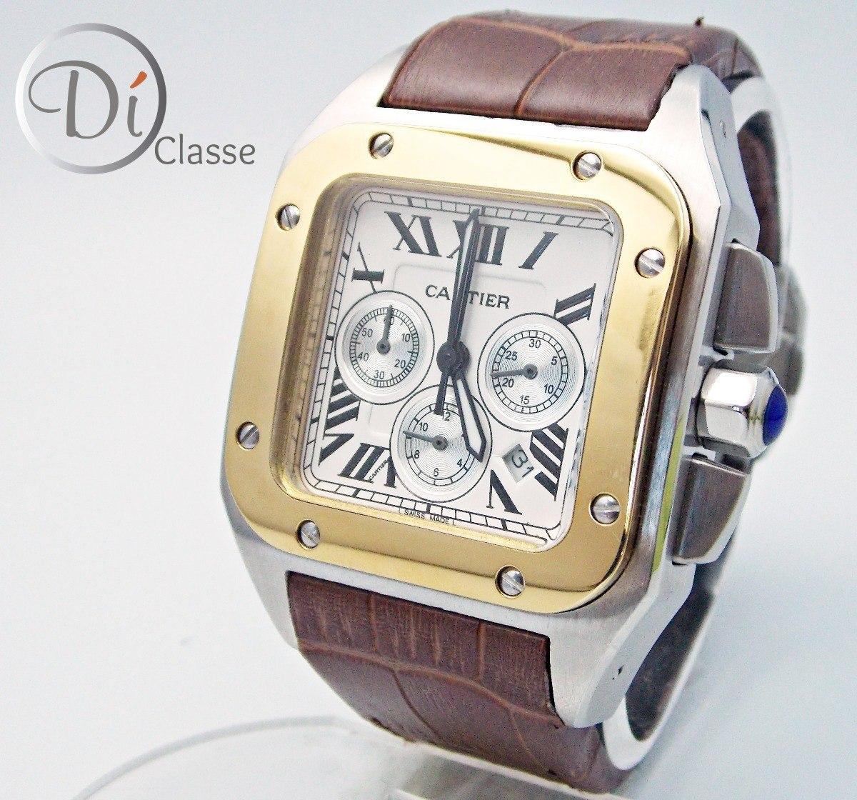309f3988bc9 Reloj Cartier Santos Combinado Acero oro King Cafe -   3