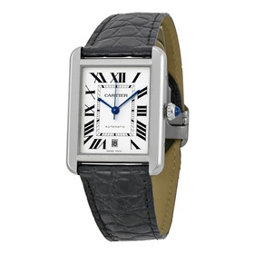 Reloj Cartier Tank Solo Piel Negra Automático W5200027