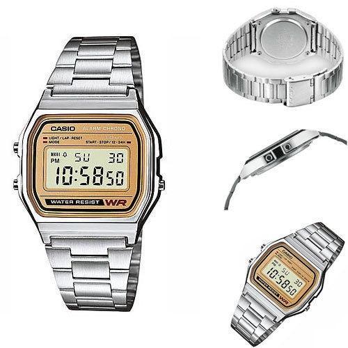 12041d357908 Reloj Casio A158 Dorado Plateado Retro -   499.00 en Mercado Libre