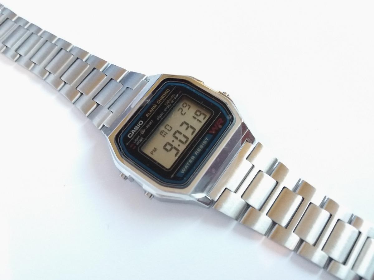 A158 100Original Unisex Clasico Caballero Inoxidable Dama Retro Mujer Casio Acero Plata Hombre Reloj Silver Vintage f6Yb7vgy