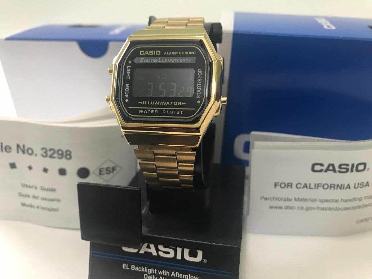 b045008e5e7b Reloj Casio A168 Dorado Gold Vintage Retro Original -   599.00 en ...