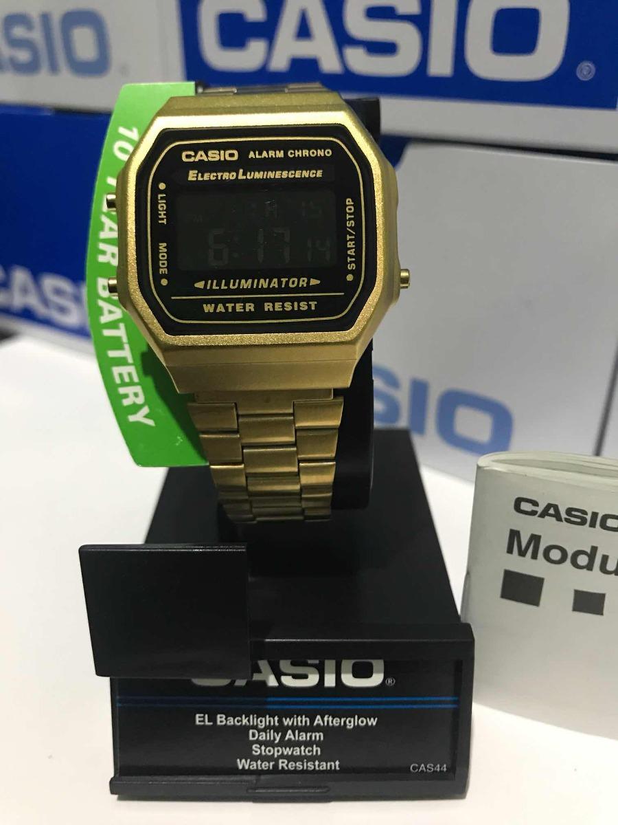 f00d347d6183 Reloj Casio A168 Dorado Oro Vintage Retro Original -   599.00 en ...