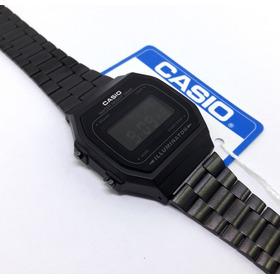 Reloj Casio A168 Full Black Negro Mate Original Retro Vintage Clasico Hombre Mujer Unisex Dama Caballero