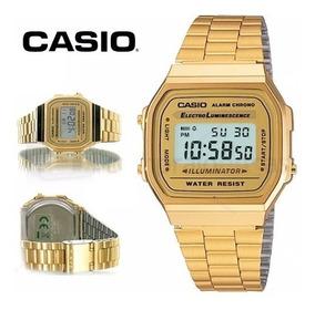 selección premium 9a151 612e3 Reloj Casio A168 Original Retro Dorado Mujer Envio Gratis