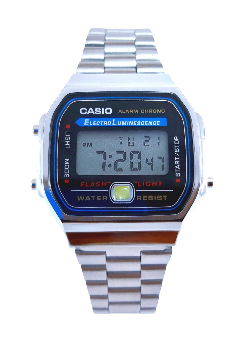 0ac46b6016f2 reloj casio a168 plata 100% original unisex. Cargando zoom.