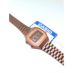 Reloj Casio A168 Rosa Mate Dama Mujer Original Rose Gold Vintage A168 Rosado Clasico Cobre