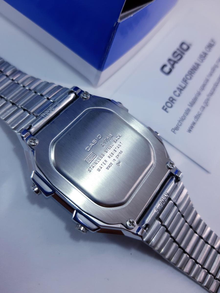 edf2aa7a8c82 Reloj Casio A178 Plata Original -   529.00 en Mercado Libre