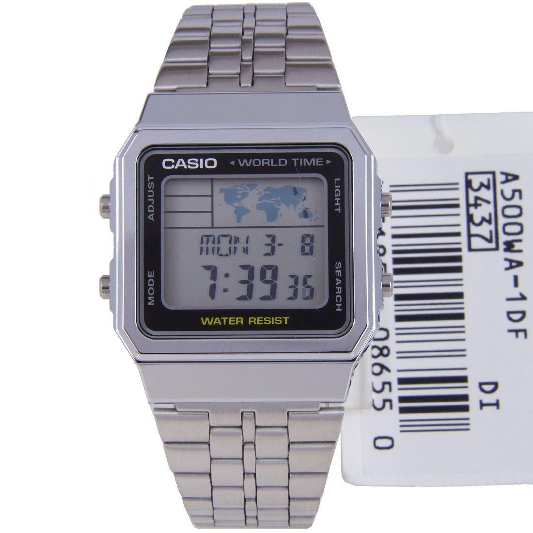 3d497a6537b6 reloj casio a500wa-1d vintage retro digital agente oficial. Cargando zoom.